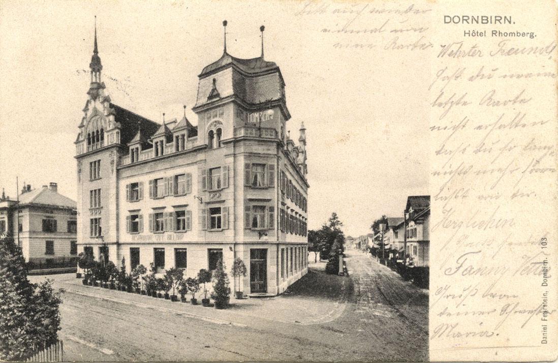 Lexikon Dornbirn Bahnhofstra E 11 Hotel Rhomberg